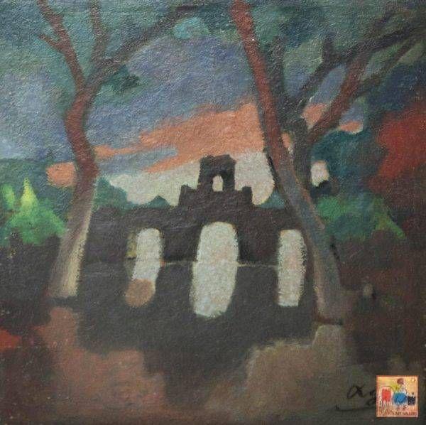 Lê Văn Xương, Ô Quan Chưởng sau cơn mưa, sơn dầu, 47x40cm