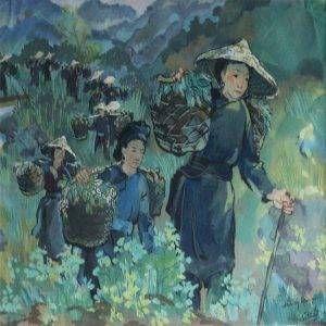 Dân công chiến dịch Biên giới 1950 của họa sĩ Nguyễn Sĩ Thiết được vẽ bằng chất liệu bột màu, có kích thước 27 x 38 cm. Bức tranh Dân công chiến dịch Biên giới 1950được sáng tác vào năm 1966.