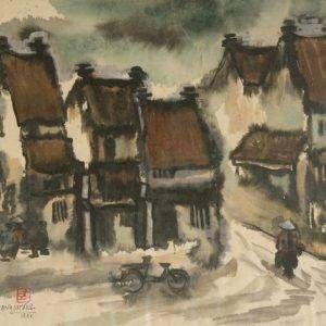 1.Đỗ Mạnh Cương, Phố, mầu nước, 40×50, 1991