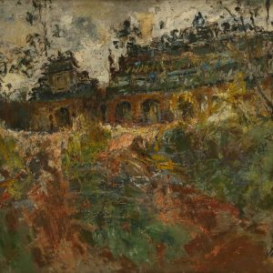 1. Văn Đen, Phong cảnh Huế, Sơn dầu, 44×59 cm