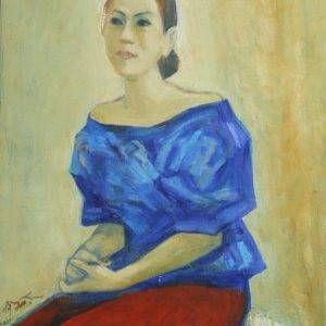 1.Bùi Quang Ngọc, chân dung NS Ánh Tuyết, sơn dầu, 77x60cm, 2011