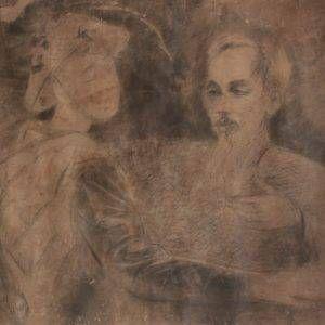 1.Dương Bích Liên, Bác Hồ với anh chiến sĩ, chì, 60×80, 1952