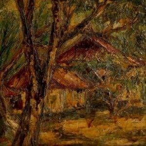 1.Nguyễn Văn Rô, phong cảnh, sơn dầu, 28×50, 1963