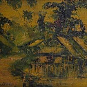 12.Nguyễn Trí Minh, phong cảnh 8, sơn dầu, 38×48, 1967