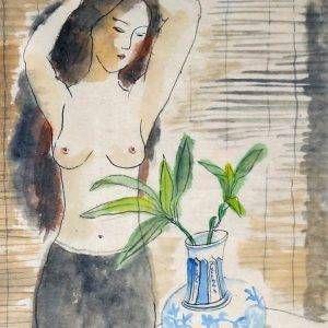 13.Trần Tuy, khỏa thân, tổng hợp, 34x24cm, 1988