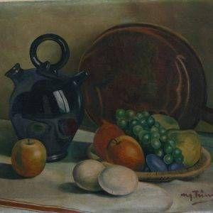 14.Nguyễn Trí Minh, tĩnh vật, sơn dầu, 40×50, 1971