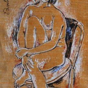 14.Trần Tuy, khỏa thân, tổng hợp, 36x26cm, 2000