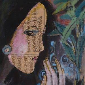 17.Trần Tuy, suy tư, tổng hợp, 40x26cm, 1990