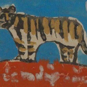 2.Bùi Xuân Phái, Bính dần, bột mầu, 12×19, 1986