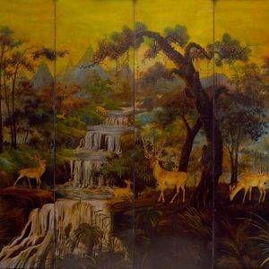 2.Lê Trung, phong cảnh, sơn mài, 140×160, 1950