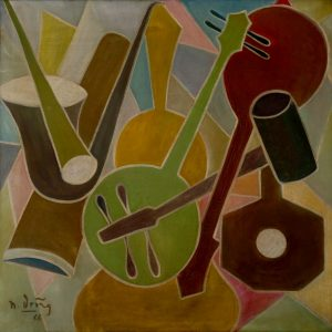2.Ngọc Dũng, nhạc, sơn dầu, 100×100, 1966