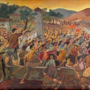 2.Nguyễn Đức Nùng, Xô viết Nghệ Tĩnh, Sơn dầu, 28×56