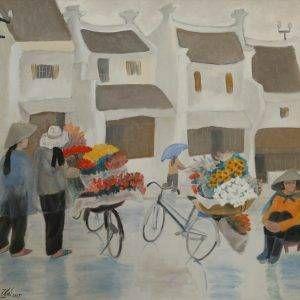 2.Nguyễn Trịnh Thái, hoa Hà Nội, sơn dầu, 70×80, 2015