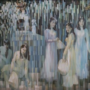 3.Đỗ Mạnh Cương, những thiếu nữ, sơn dầu, 120x160cm, 1997