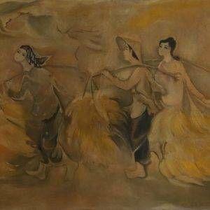 3.Tú Duyên, mùa gặt, 110x190cm, Sơn dầu, 1973