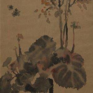 3.Trần Khánh Chương, phong cảnh, giấy dó, 26×43, 1990
