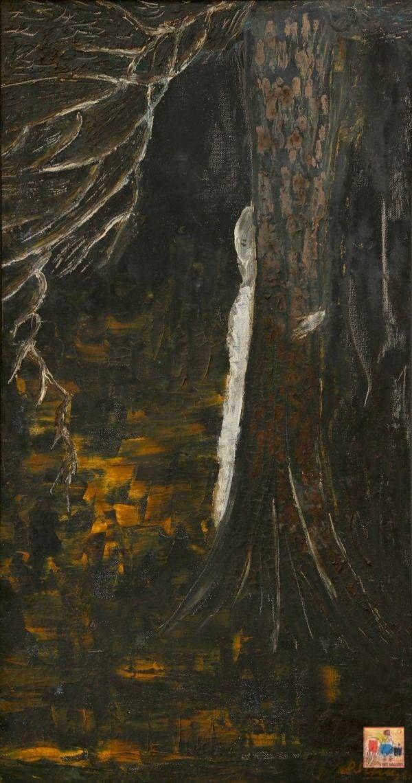 4.Đào Sĩ Chu, bóng trắng, sơn dầu, 64×36, 1961
