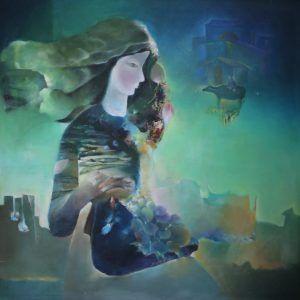 4.Sa Vũ, giai điệu đồng bằng, sơn dầu, 100×100, 2009