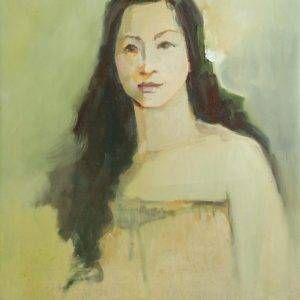 Thẩm Đức Tụ, chân dung NS Ánh Tuyết, sơn dầu, 86x60cm, 2011