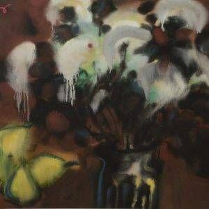 4.Trần Khánh Chương, tĩnh vật, lụa, 60×84, 1994