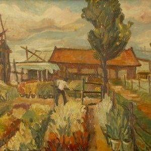 4Ngọc Dũng, phong cảnh, sơn dầu, 40×60, 1961