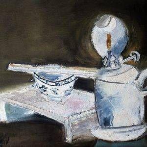 5.Đỗ Phấn, tĩnh vật, sơn dầu, 30x36cm, 2002