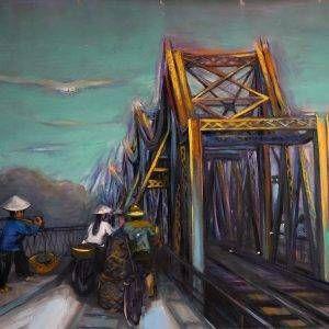 6.Đỗ Phấn, cầu Long biên, sơn dầu, 100x130cm, 2006