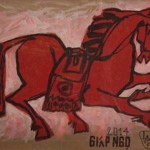6.Bùi Quang Ngọc, giáp Ngọ, màu nước, 27x37cm, 2014