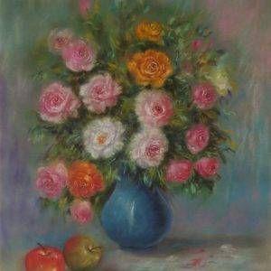 Lâm Kim, hoa, phấn tiên, 75x55cm, 2013