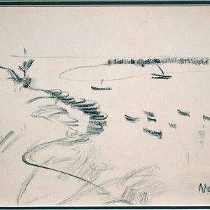 6.Nguyễn Gia Trí, ký họa phong cảnh (5) , chì , 19×26,5cm