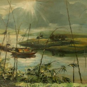6.Nguyễn Trí Minh, phong cảnh 2, sơn dầu, 51×80, 1960