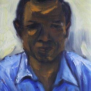 7.Đỗ Phấn, chân dung Trương Văn Thuận, sơn dầu, 42x32cm, 2015