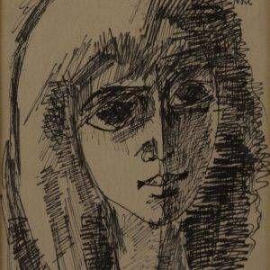 7.Duy Thanh, Noel, bút sắt, 17×13, 1963
