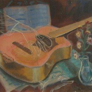 8.Duy Thanh, đàn ghi ta, bột màu, 43×52, 19