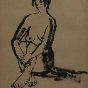 9.Bùi Quang Ngọc, khỏa thân 2, mực nho, 52x41cm, 2004