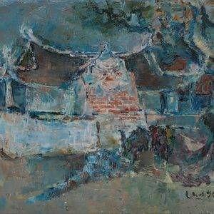 Ngô Chính, phong cảnh, sơn dầu, 67×89, 1991 (chụp lại)