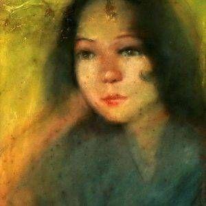 Nguyễn Dung, chân dung, pastel, 28×36,