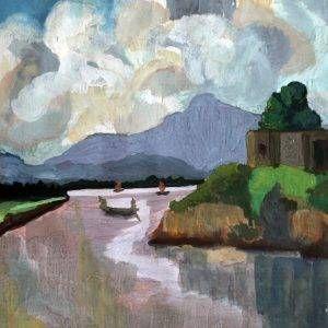 Phong cảnh Trug Hàcủa họa sĩ Nguyễn Sĩ Thiết được vẽ bằng chất liệu bột màu, có kích thước 46 x 31 cm. Bức tranh Phong cảnh Trung Hàđược sáng tác vào năm 1963.