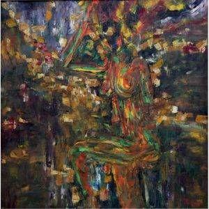 Văn Y, Khỏa thân, sơn dầu, 110x110cm, 2015