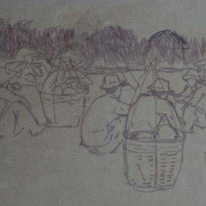 33.Vũ Ba, ký họa, mầu nước, 18×25