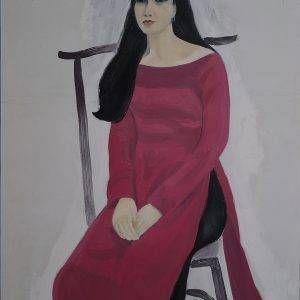 9. Nguyễn Trịnh Thái, Chân dung, sơn dầu, 90×70 cm.