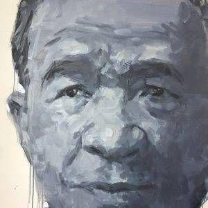 Đỗ Hoàng Tường, chân dung Trương Văn Thuậnn, acrylic, 125x90cm, 2017