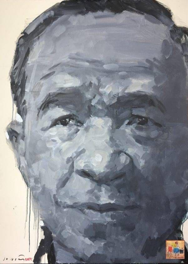 1.Đỗ Hoàng Tường, chân dung Trương Văn Thuậnn, acrylic, 125x90cm, 2017