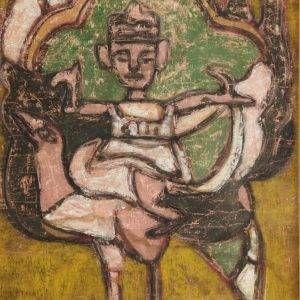 Bùi Minh Dũng, cô Tiên, bột mầu, 42x53cm, 1991