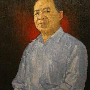 Bùi Văn Tuất, chân dung Trương Văn Thuận, sơn dầu, 73x55cm, 2016