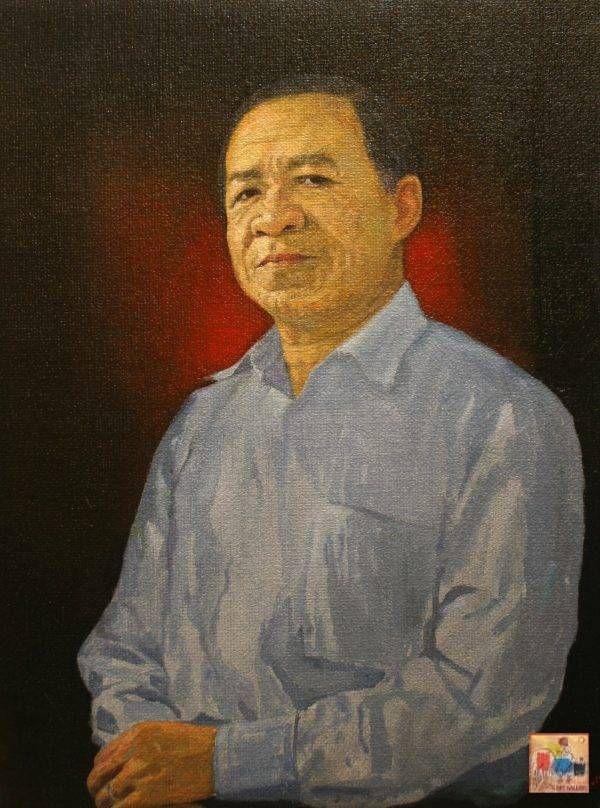 1.Bùi Văn Tuất, chân dung Trương Văn Thuận, sơn dầu, 73x55cm, 2016