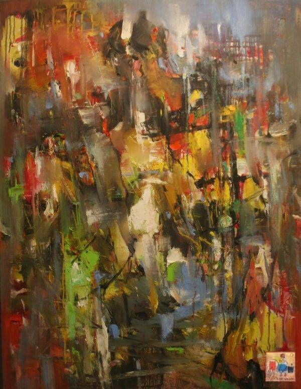 Bùi Văn Tuất, phận, sơn dầu, 120x92cm, 2016