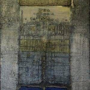 Đỗ Hoàng Tường, không đề, hỗn hợp, 110x100cm, 2000