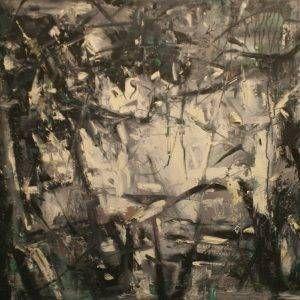 Bùi Văn Tuất, sau vườn, sơn dầu, 80x120cm, 2016