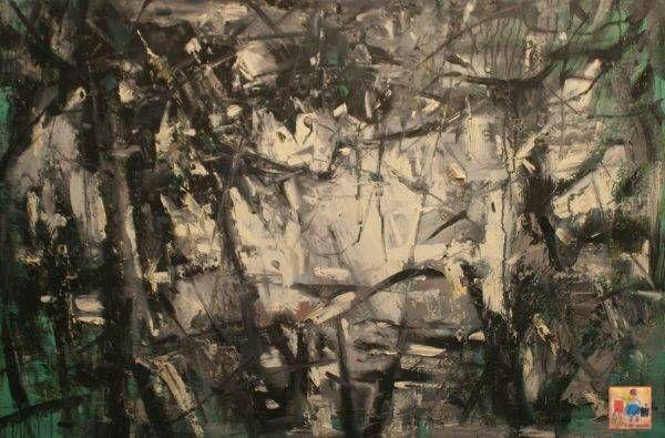 5.Bùi Văn Tuất, sau vườn, sơn dầu, 80x120cm, 2016